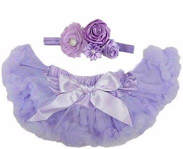 Baby Petticoat lila & haarband