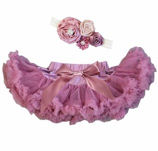 Baby Petticoat dusty pink & haarband