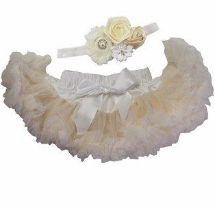 Baby Petticoat creme & haarband