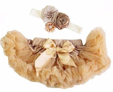 Baby Petticoat antiek goud & haarband