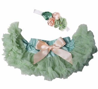 Baby Petticoat pistache peach l& haarband