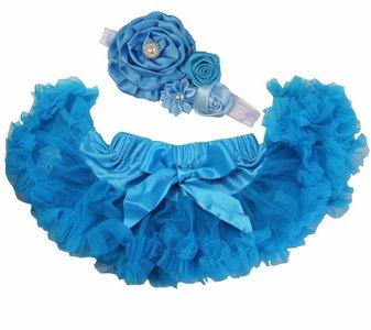 Baby Petticoat  peacock & haarband