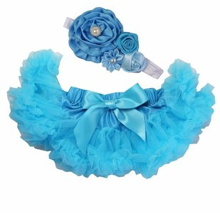 Baby Petticoat  turqoise & haarband