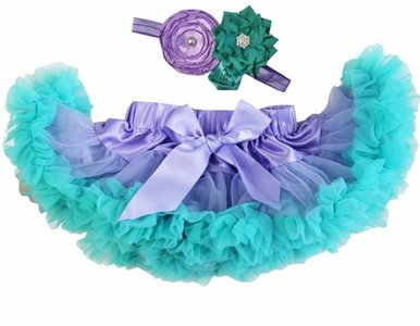 Baby Petticoat Violet lucite green & haarband