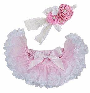 Baby Petticoat Baby-roze kant & haarband