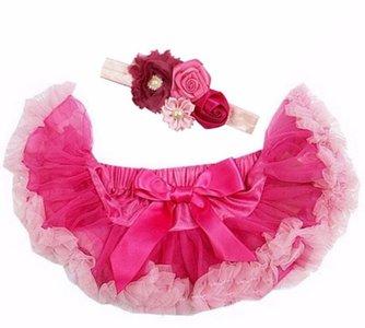 Baby Petticoat Roze hotpink & haarband