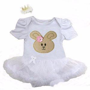Baby jurk pasen Konijntje goud