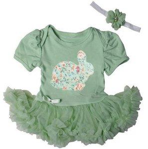 Baby jurk Pistache Easter Bunny
