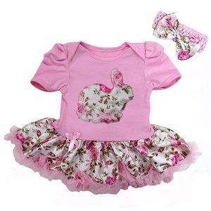 Baby jurk Flower Easter Bunny