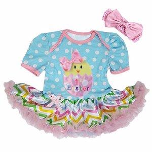 Baby jurk colorful pastel 1e pasen kuikentje