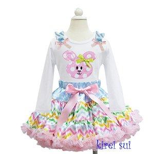 Paas Petticoat set pasteel streep konijn longsleeve