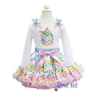 Paas Petticoat set pasteel streep ei longsleeve