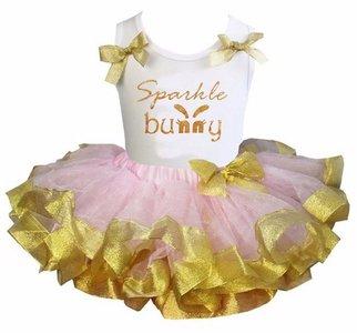 Paas tutu rok set Roze Sparkle Bunny