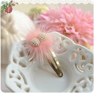 Haarclip Royal Strikje roze