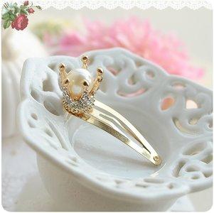 Haarclip Royal parel kroon diamond