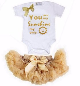 Petticoat + romper Baby Set You Are My Sunshine