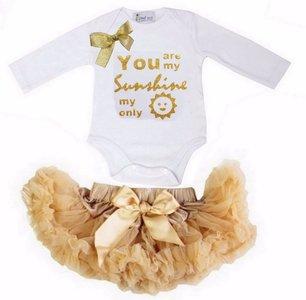 Petticoat + romper longsleeve Baby Set You Are My Sunshine