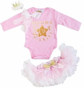 3delige set Petticoat + romper longsleeve Born To Be Star