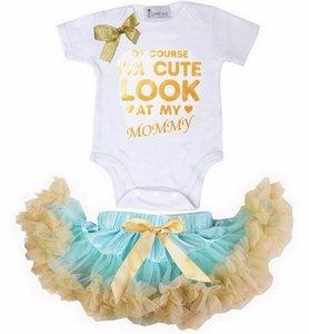 Set Petticoat + romper I'm Cute Look At My Mommy