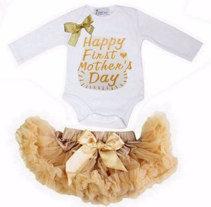 Set Petticoat + romper longsleeve Happy First Mother's Day