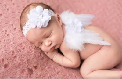 Engelvleugels Luxe Wit + Haarband Newborn.