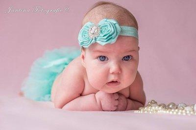 Baby Girl Luxury rose mint Haarband