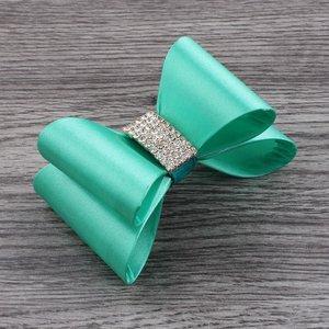 Strik haarclip Luxury Satijn glitter mint