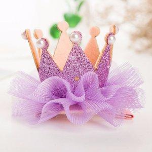 Kroon haarclip Glitter Lila Paars