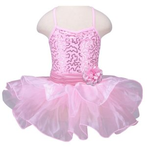 Balletpakje Roze Glitter Sarah tutu 86-140