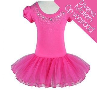 Balletpakje Daisy sparkle Fuchsia Tutu maat 98-140