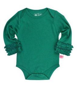 Romper longsleeve Emerald groen Romper