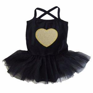 baby tutu jurkje Zwart Gouden Hart