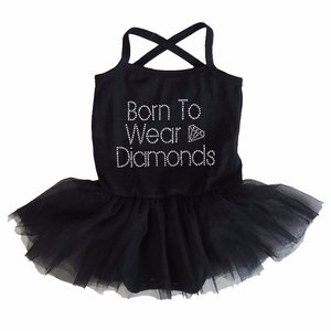 baby tutu jurkje Zwart Born to Wear Diamonds
