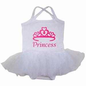 baby tutu jurkje Wit roze Princess