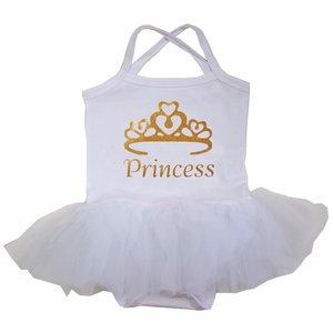 baby tutu jurkje Wit Goud  Princess