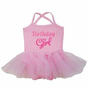 baby tutu jurkje Roze Birthday Girl
