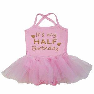 baby tutu jurkje Roze Half Birthday