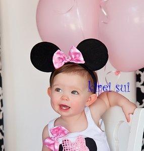 Minnie Mouse Diadeem Roze strik