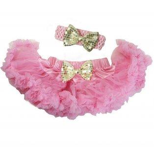 Baby Petticoat Roze Goud & haarband