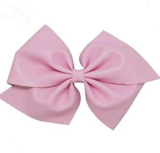 HaarStrik Clip Pink Leder Look