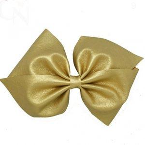 HaarStrik Clip Gold Leder Look
