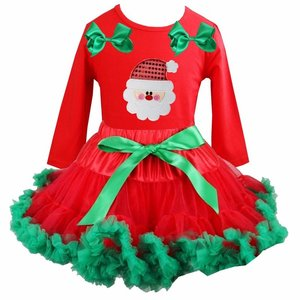 Kerst petticoat rood groen Kerstman longsleeve