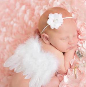 Engel vleugels Lovely wit + Haarband Newborn