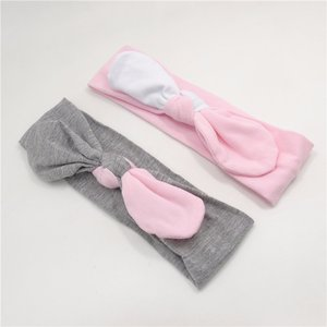 Knot haarband Grijs of Roze wit