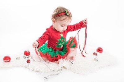 kerst baby jurk rood Groen XMas Tree