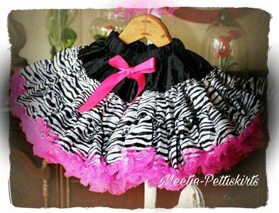 Petticoat Luxe Zebra By Meetje-Pettiskirts