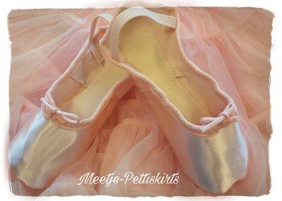 balletschoentjes Premium Satijn Roze maat 19 t/m 39