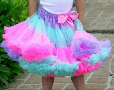 Petticoat Luxe Mint Rainbow By Meetje-Pettiskirts Kids