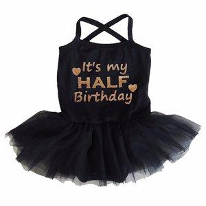 baby tutu jurkje Zwart Half Birthday