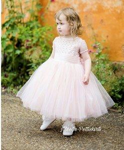 Couche Tot Jurk Dusty Pink Luxe Mouwtje  3-12 jaar